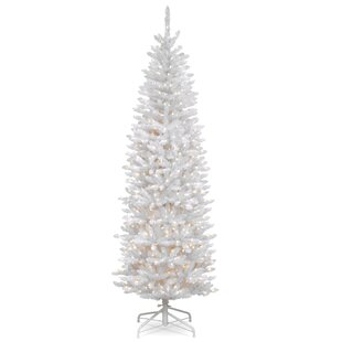 White Tree With Lights Wayfair