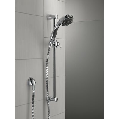 dual shower head bar. slide bar hand shower dual function faucet trim only head c