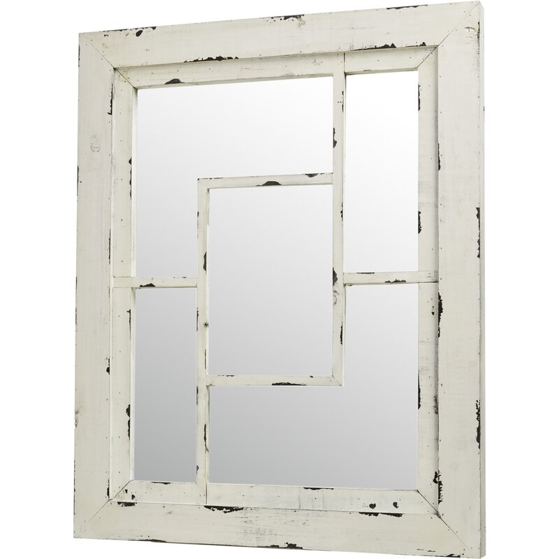 August Grove Rectangle Wood Wall Mirror Reviews Wayfair