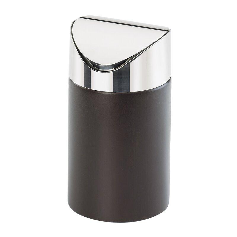 cal mil counter receptacle swing top trash can reviews wayfair. Black Bedroom Furniture Sets. Home Design Ideas