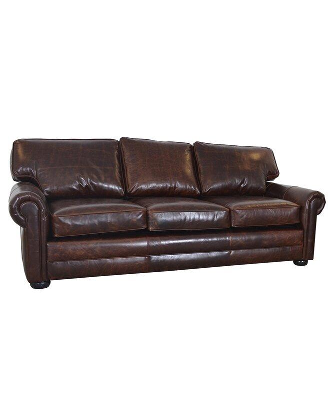 Fenway Studio Genuine Top Grain Leather Sofa