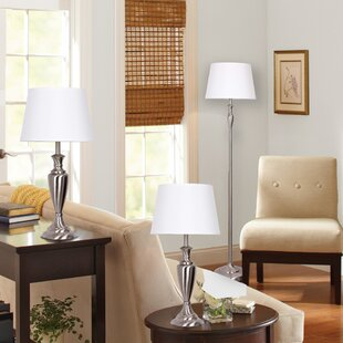 Captivating 3 Piece Table And Floor Lamp Set