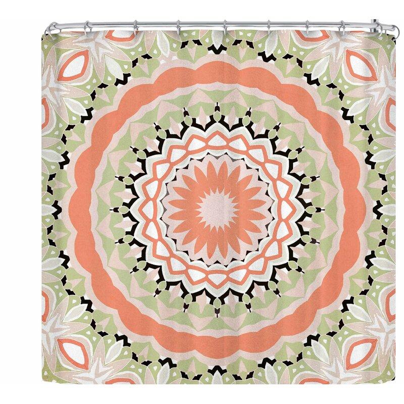 Alison Coxon Mango Tango Mandala Shower Curtain