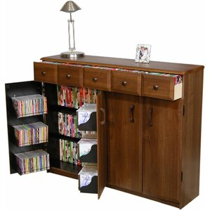 Multimedia Cabinet with Library Style Drawer..