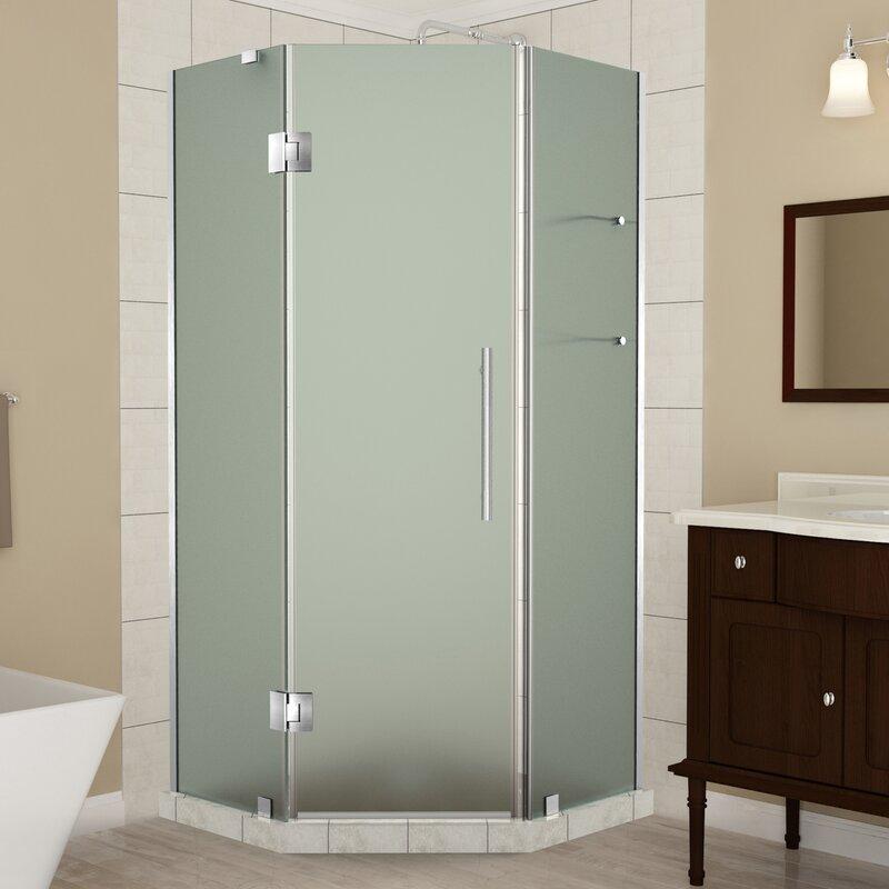 Old Fashioned Frameless Shower Sliding Glass Doors Pattern