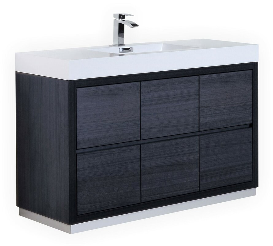 Wade Logan Tenafly 60 Quot Single Bathroom Vanity Set