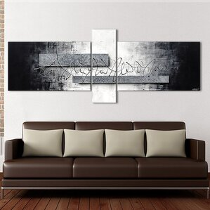 Silver Signs 3 Piece Framed Wall Art Set On Canvas