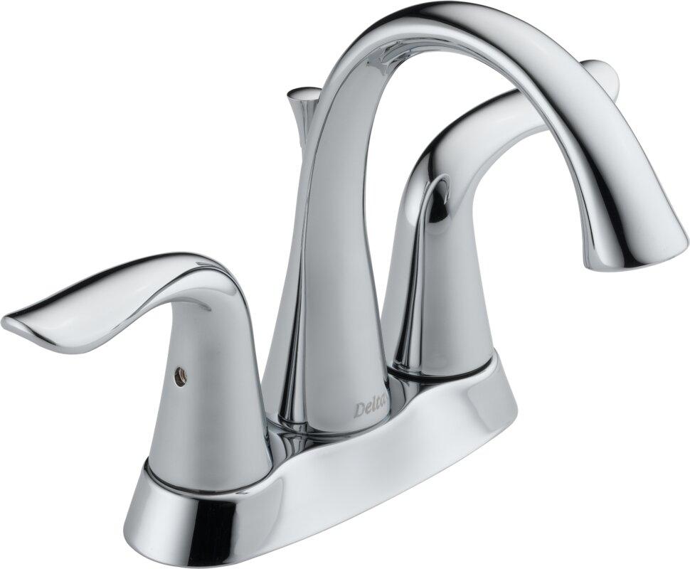 Delta Victorian 555lf Single Handle Centerset Bathroom: Delta Lahara Centerset Double Handle Bathroom Faucet With
