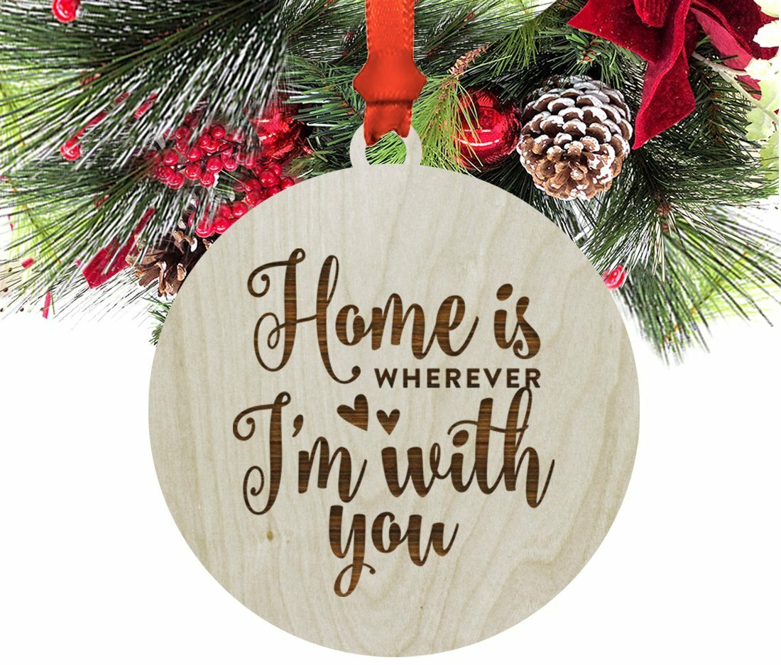 Koyal Wholesale Wood \'Home Is Wherever I\'m with You\' Christmas ...