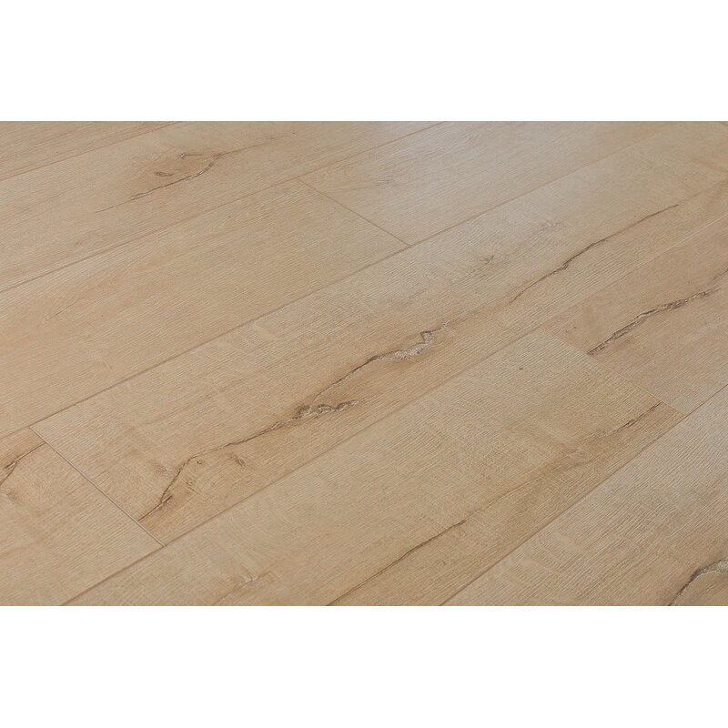Jeramiah 7 X 48 12mm Oak Laminate Flooring In Taupe