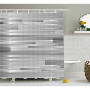 Enrique Striped Web Forms Shower Curtain