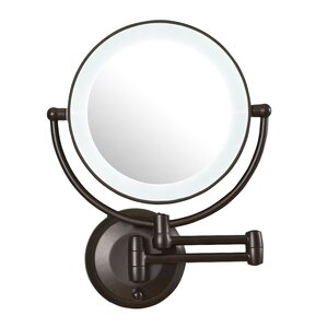 Aldona LED Lighted 1X 10X Magnification Mount Wall Mirror