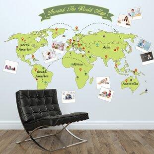 Large world map wall decal wayfair around the world map wall decal gumiabroncs Choice Image