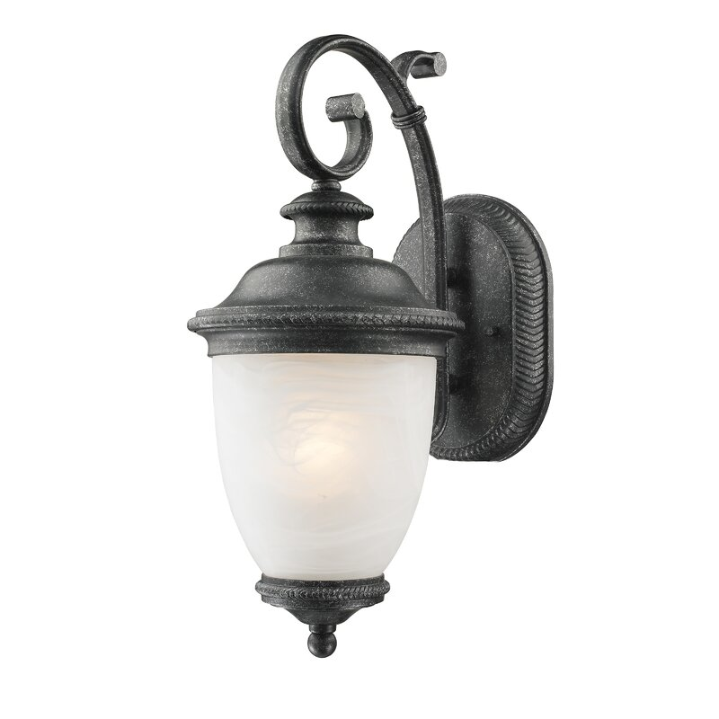 Marvelous Diop Frosted Outdoor Coach Lamp