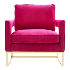 Aloisio Velvet Upholstery Armchair by Willa ..