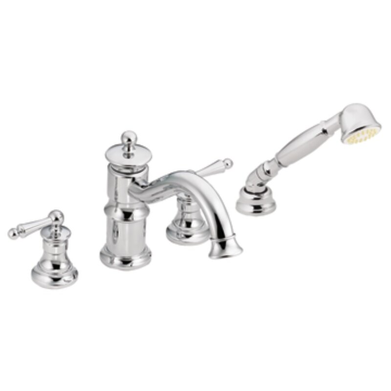 Ts213nl Moen Waterhill Double Handle Deck Mount Roman Tub Faucet