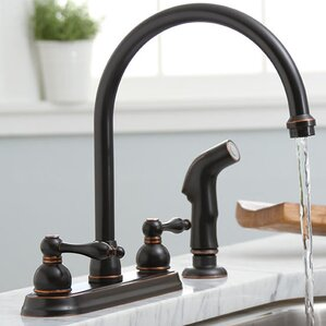 Premier Faucet Wellington Ceramic Disc Double Handel Standard Kitchen Faucet with Sprayer