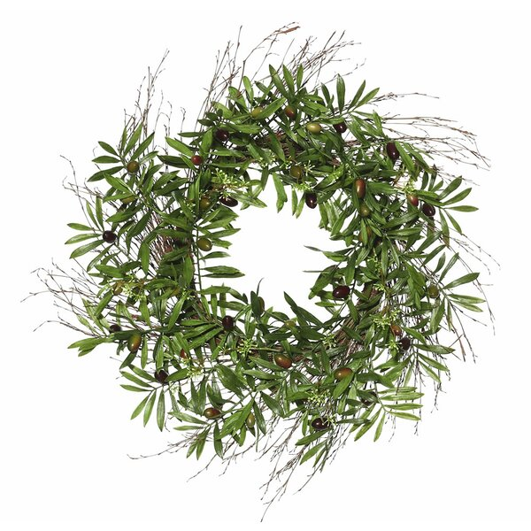 three posts artificial 24 olive leaf polyester wreath reviews