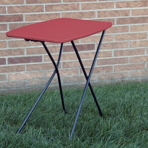 Indoor/Outdoor Adjustable Height Personal Folding Tailgate Table (Set Of 2)