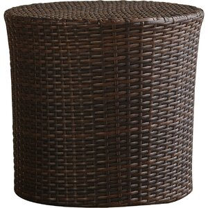 Mazzella Bluestar Barrel Wicker Side Table