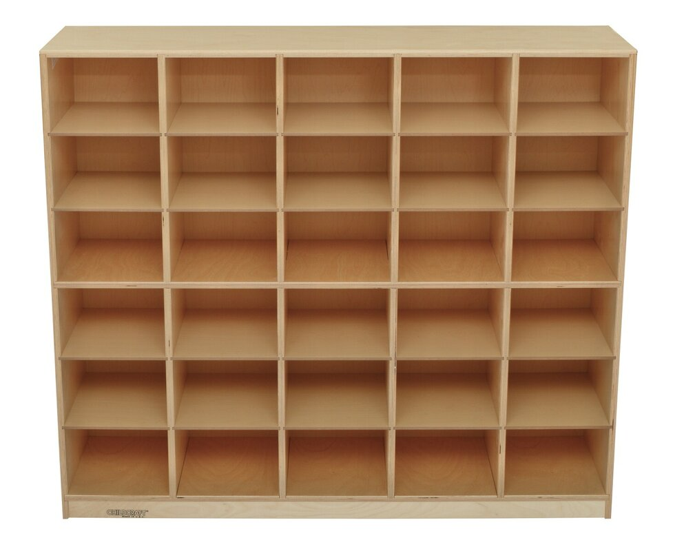 30 Compartment Cubby With Casters