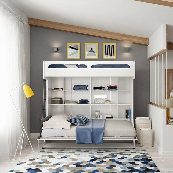 Brayden Studio Gautreau Twin Over Full Murphy Bed With