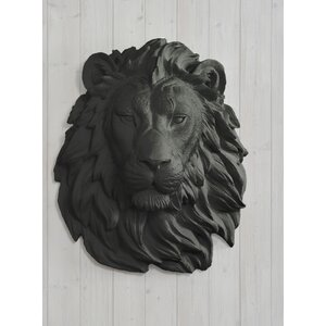 Saharan Faux Taxidermy Lion Head Wall Du00e9cor