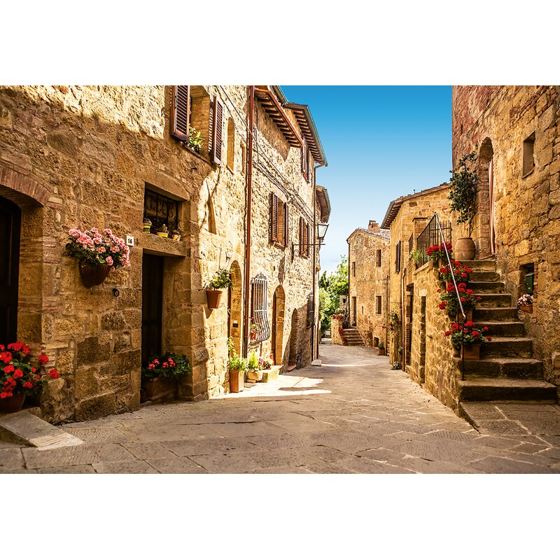 Brewster Home Fashions Tuscany Village 83 x 144 Wall Mural Wayfair