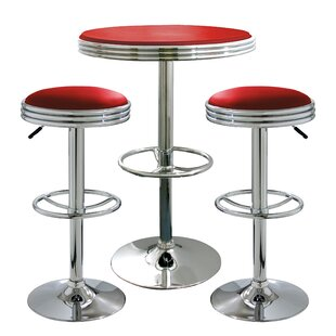 Southampton Retro Sode Shop 3 Piece Pub Table Set