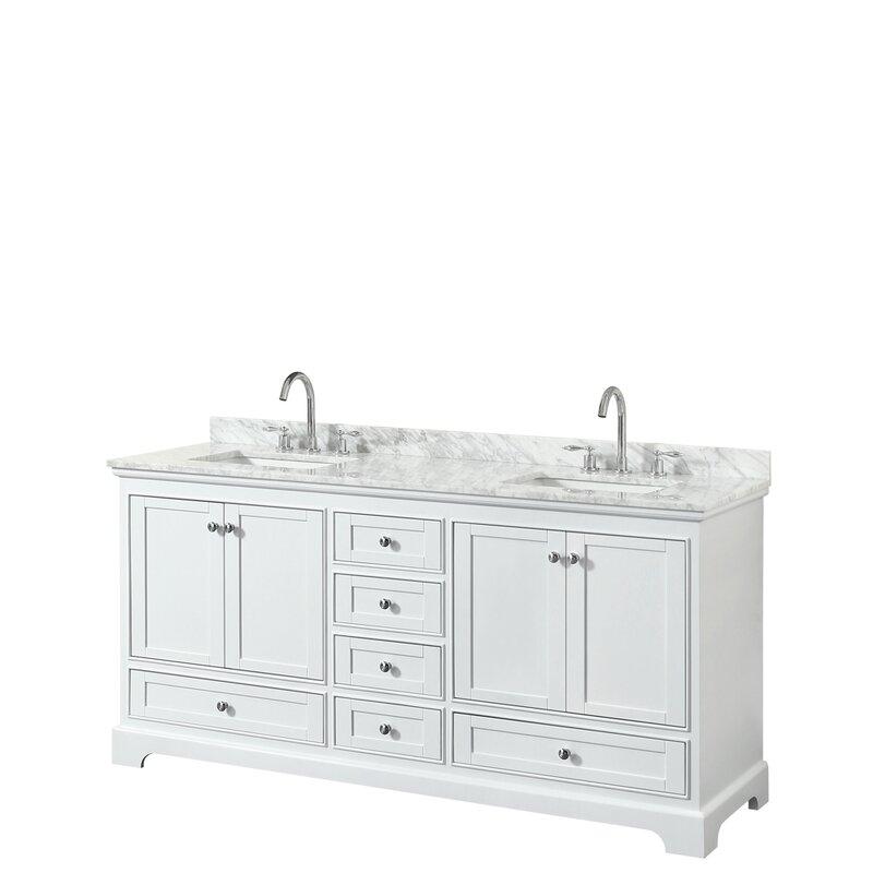 Wyndham Collection Deborah 72 Double Bathroom Vanity Set Reviews