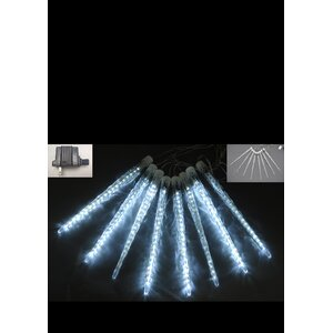 Meteor Icicle Lights with 20 White LED Lights (Set of 2)