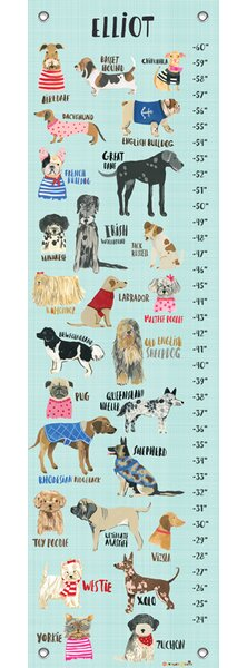 Mack Milo Adamstown Dogs Personalized Growth Chart Wayfair