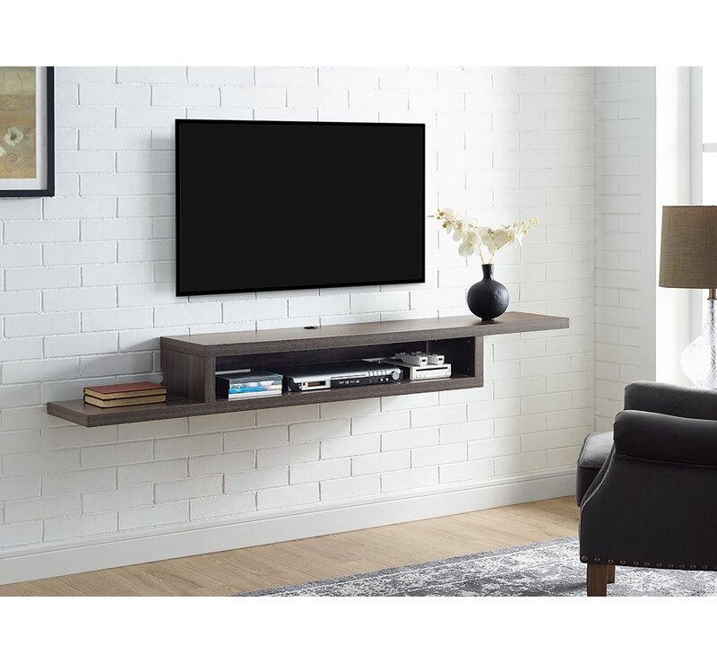 Martin Home Furnishings Ascend 60 Asymmetrical Wall Mounted Tv