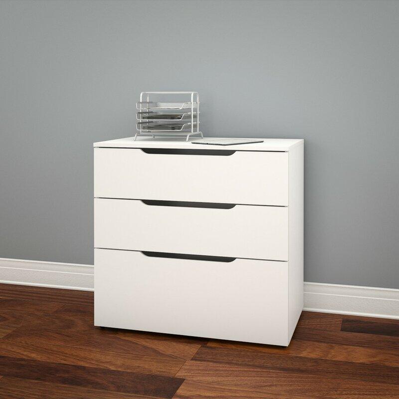 latitude run kurtis 3-drawer lateral file & reviews   wayfair