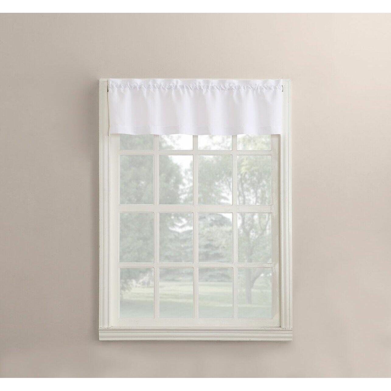 Hamilton 3 Piece Kitchen Curtain Set Available In 4: No. 918 Martine Microfiber 3-Piece Kitchen Curtain Set