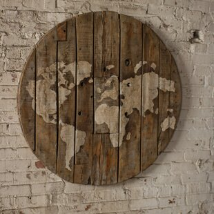 Reclaimed Wood World Map | Wayfair