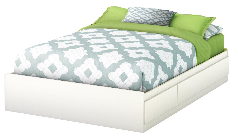 step one fulldouble storage platform bed