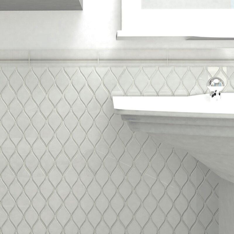 Guadeloupe 2 X 8 Ceramic Moldura Trim Wall Chair Rail Tile