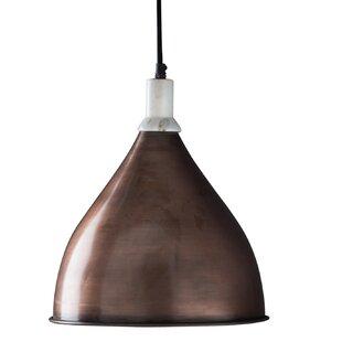 Hammered copper pendant light wayfair benton pendant light aloadofball Images