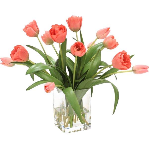 Distinctive Designs Waterlook Elegant Tulips Floral Arrangements In
