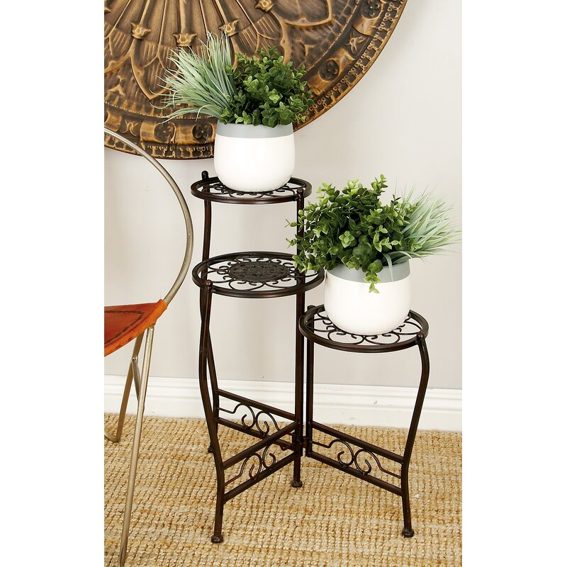 Cole Grey Metal Multi Tiered Plant Stand Reviews Wayfair