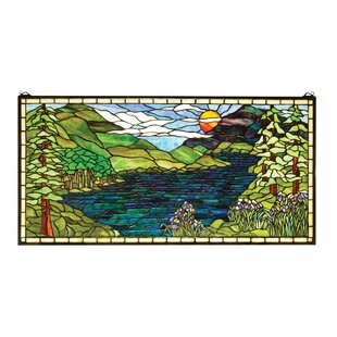Lodge Tiffany Sunset Meadow Stained Gl Window By Meyda