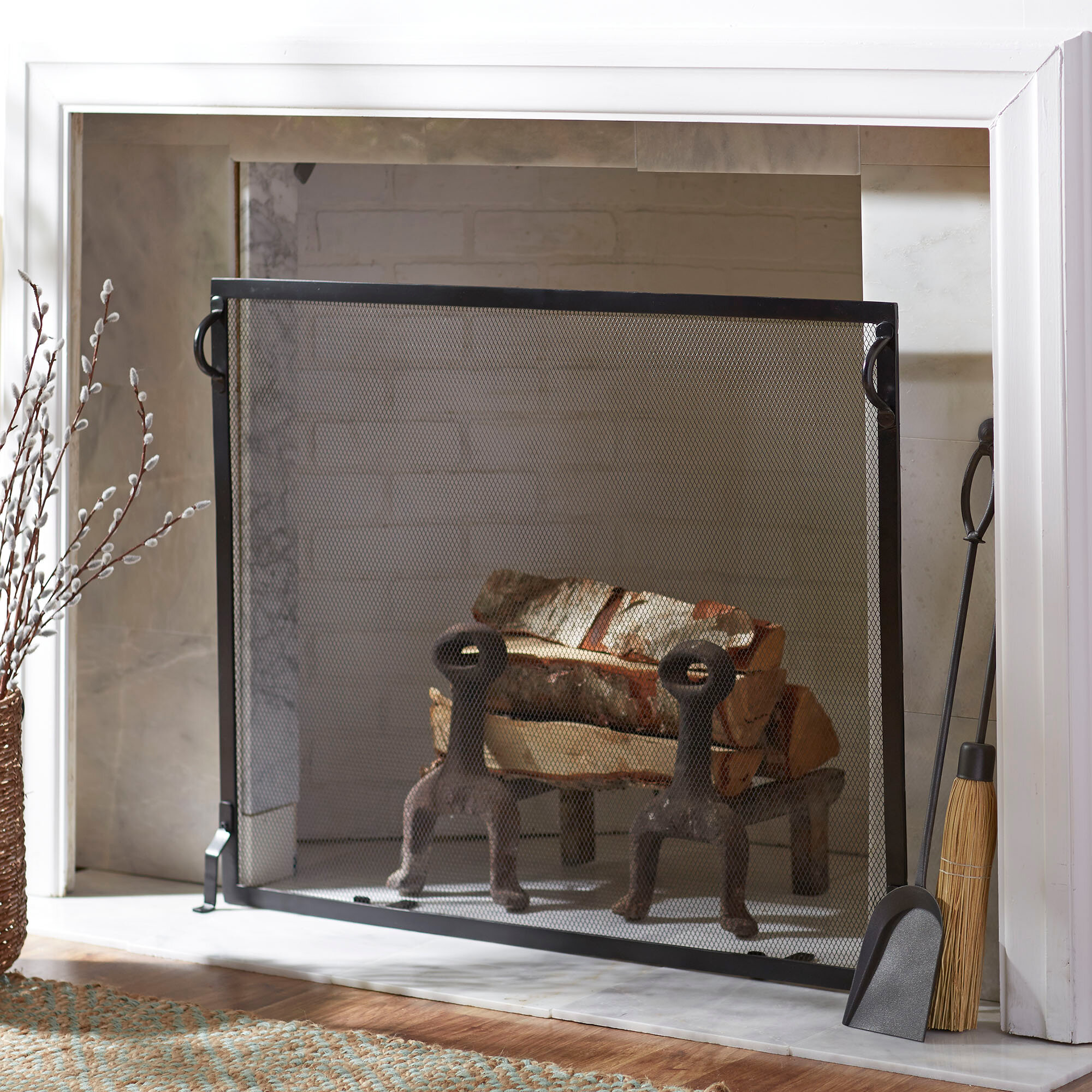 fireplace ventless regal p insert flame electric curved screen inch heater