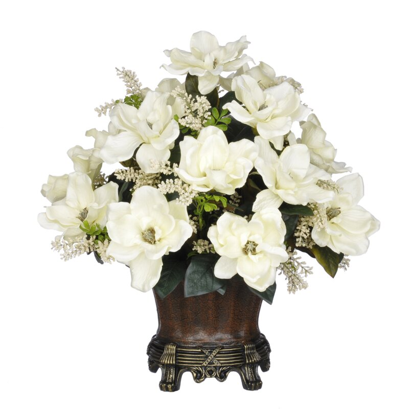Magnolia Centerpiece In Decorative Vase Amp Reviews Joss
