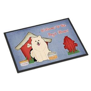 Dog House Samoyed Doormat