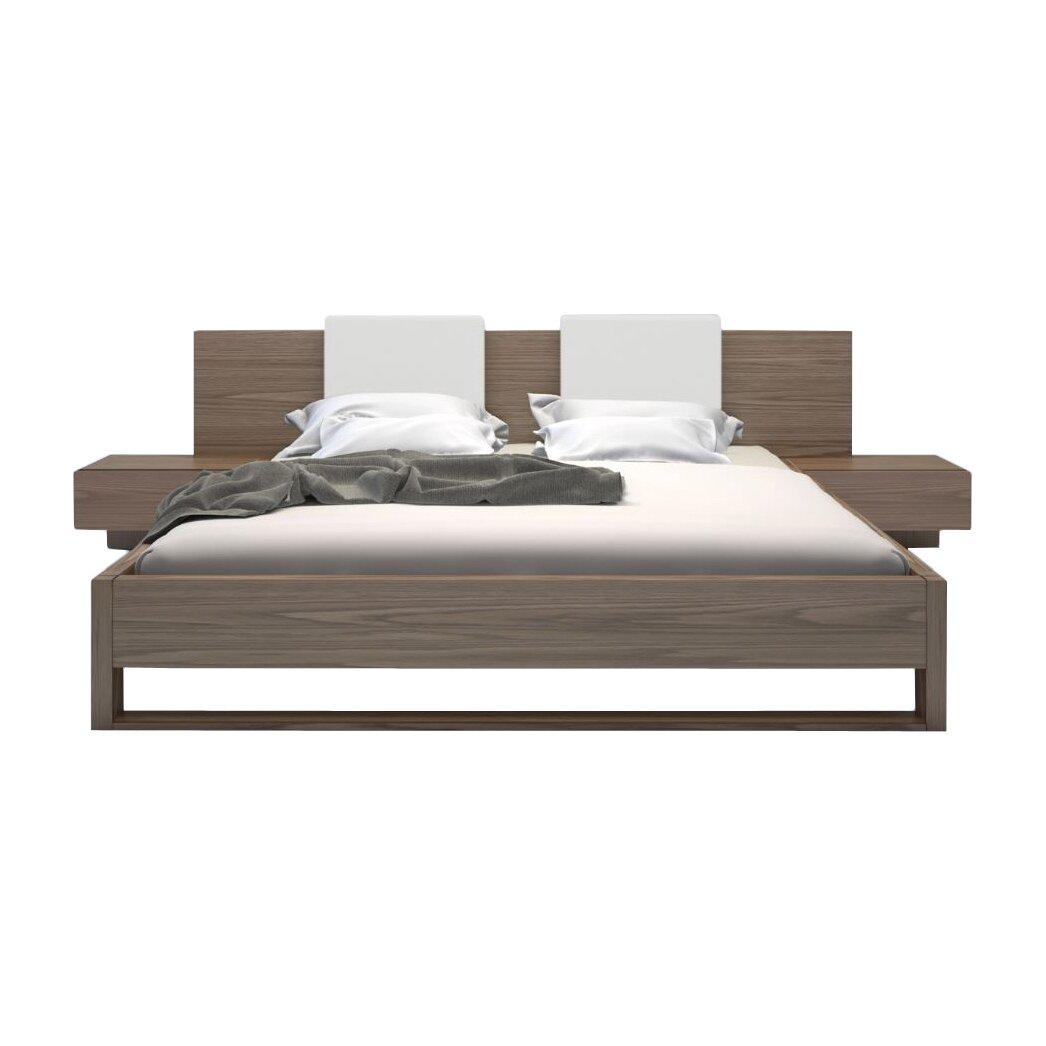 Leatherette cal king platform bed frame and california interalle com - Monroe Upholstered Platform Bed