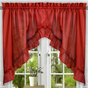 Red Swag Valances U0026 Kitchen Curtains