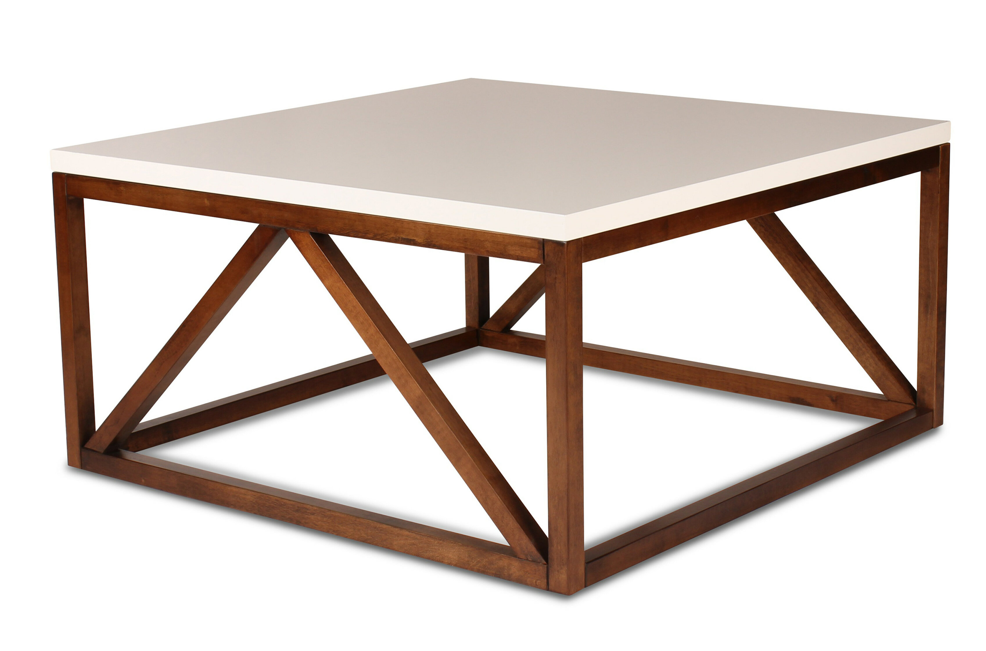 Dunstan two toned coffee table reviews allmodern