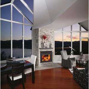 Galaxy Zero Clearance Wall Mount Fireplace Insert by Supreme Fireplaces Inc.