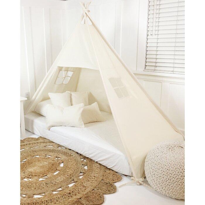 Canopy Bed Play Teepee  sc 1 st  Wayfair & DomesticObjects Canopy Bed Play Teepee u0026 Reviews | Wayfair.ca
